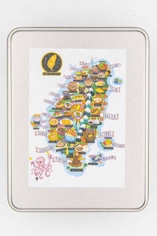 taiwan street food map jigsaw