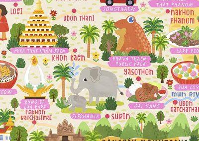 thailand map illustration