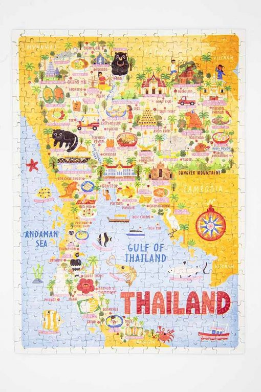 Thailand Map Jigsaw Puzzle 384 pieces premium hand made