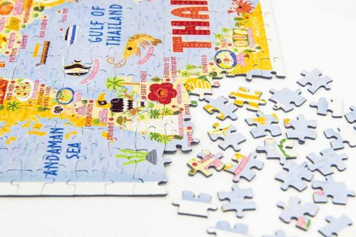 thailand map jigsaw puzzle