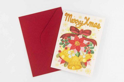 merry xmas jingle bells xmas card