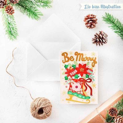 be merry xmas card