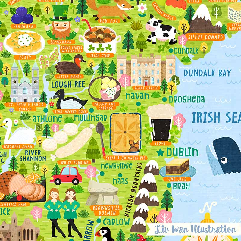 ireland map detail