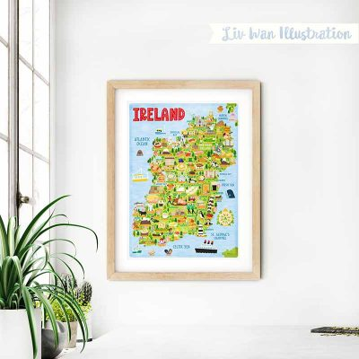 ireland map wall art