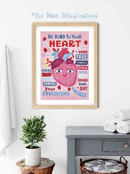 be kind to your heart poster