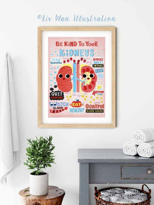 be kind to your kidneys poster