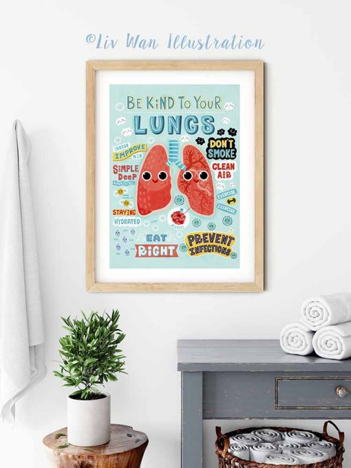 be kind to your lungs poster