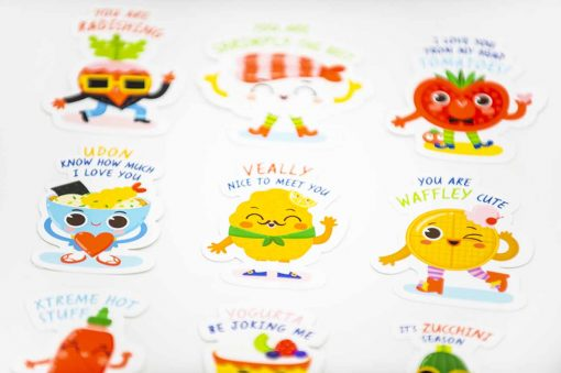 Food Pun Alphabet A to Z Stickers