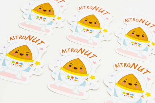 Astro Nut Food Pun Sticker