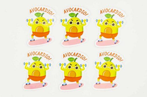 avocardio food pun sticker
