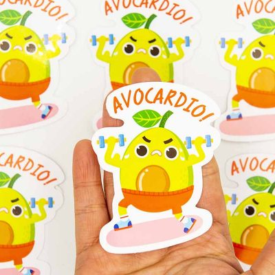 avocardio food pun sticker