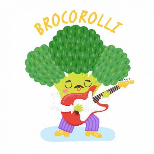 Brocorolli Food Pun Sticker
