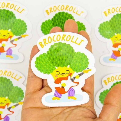 Brocorolli Food Pun Sticker