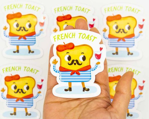 French Toast Food Pun Sticker