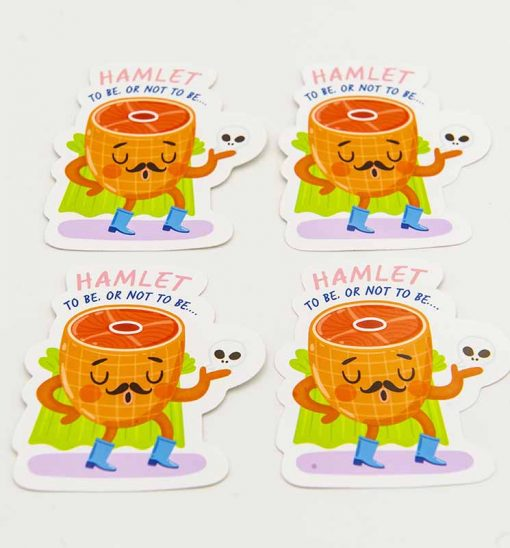 Hamlet Food Pun Sticker