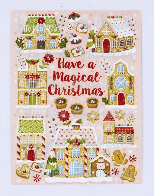 Have A Magical Christmas Postcard