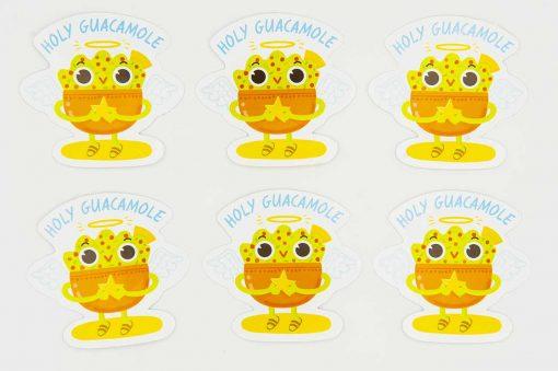 Holy Guacamole Food Pun Sticker