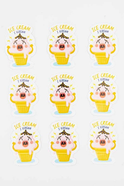 Ice Scream Food Pun Sticker