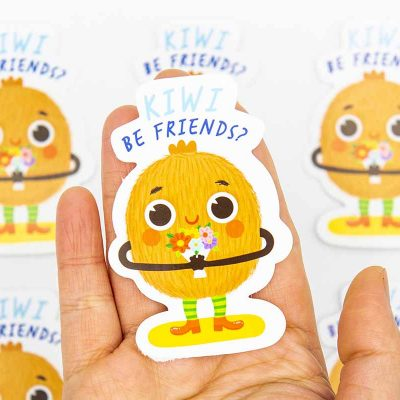 Kiwi Be Friends Food Pun Sticker