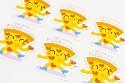 You Have A Pizza Of My Heart Pun Sticker