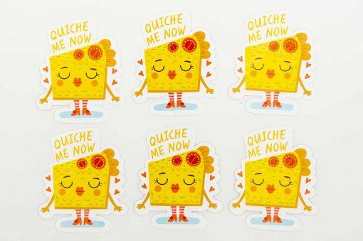 Quiche Me Now Food Pun Sticker