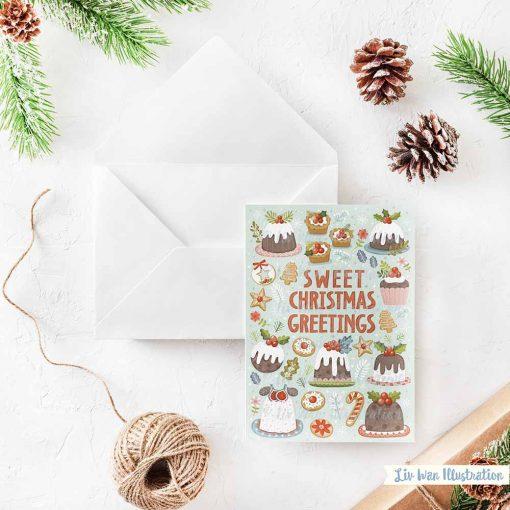 Sweet Christmas Greetings Christmas Card