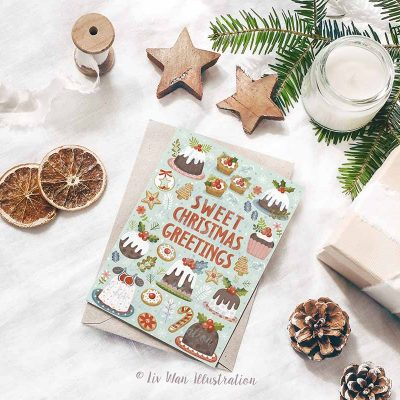 Sweet Christmas Greetings Postcard