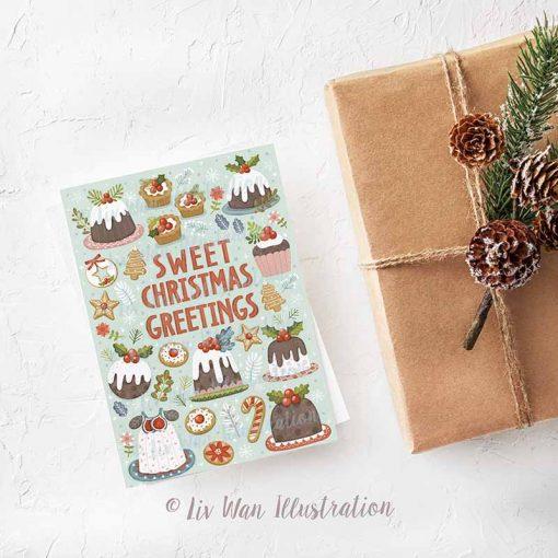 Sweet Christmas Greetings Postcard