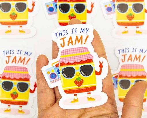 This Is My Jam Food Pun Sticker