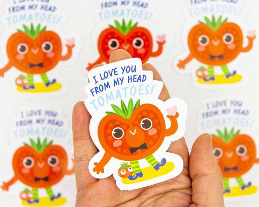 I Love You From My Head Tomatoes Food Pun Sticker
