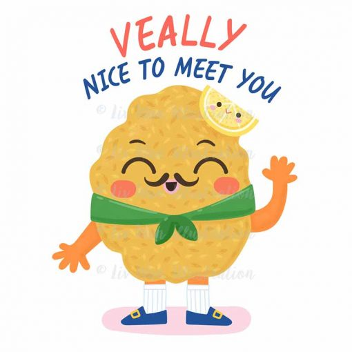 Veally Nice To Meet You Food Pun Sticker