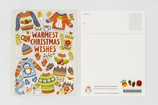 Warmest Christmas Wishes Postcard