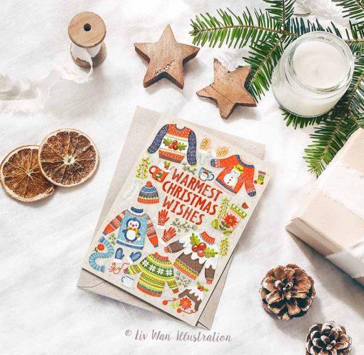 Warmest Christmas Wishes Postcard