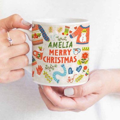 warmest wishes christmas mug