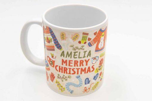 warmest wishes christmas mug