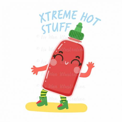 Xtreme Hot Stuff Food Pun Sticker