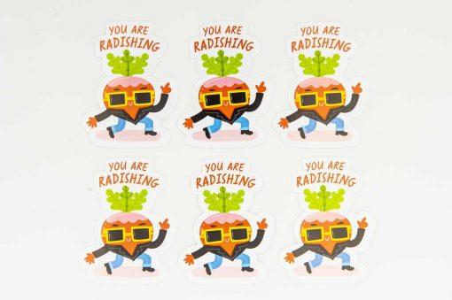 You Are Radishing Food Pun Sticker
