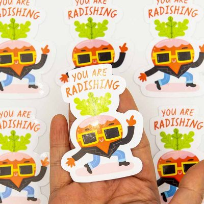 You Are Radishing Food Pun Sticker