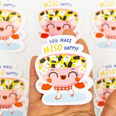 You Make Miso So Happy Food Pun Sticker