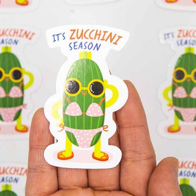 Zucchini Food Pun Sticker