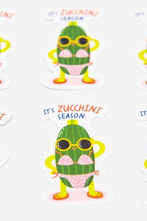 Zucchini Food Pun Sticker