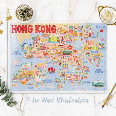 Hong Kong Map Jigsaw Puzzle
