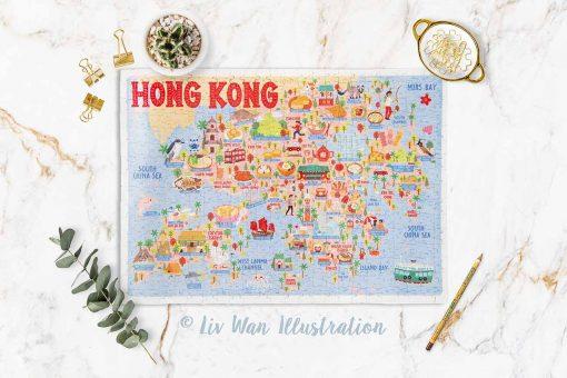 Hong Kong Map Jigsaw Puzzle