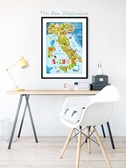 Italy Map Poster