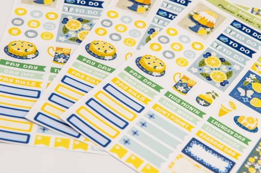 lemon zest planner stickers