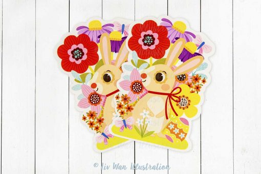 Happy Easter Bunny Postcard