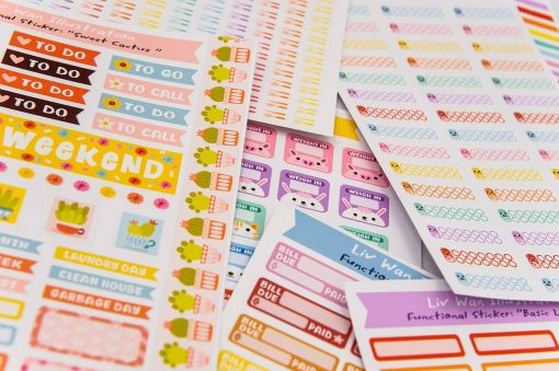 Basic Labels Planner Stickers