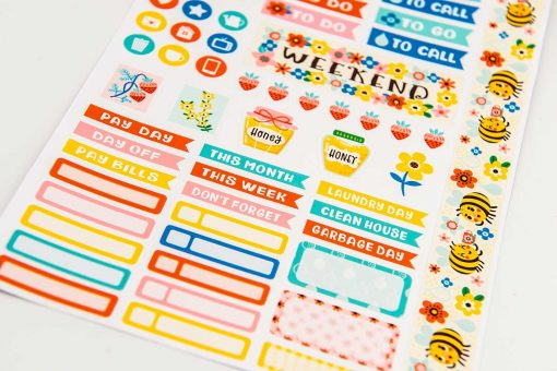 Bees and Honey Planner Stickers
