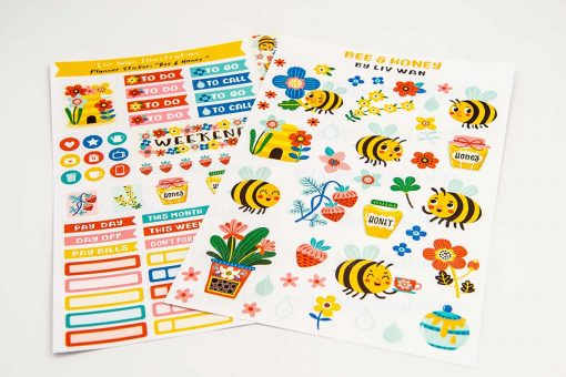 Bees and Honey Sticker Sheet