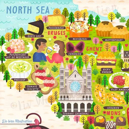 Belgium Map Poster